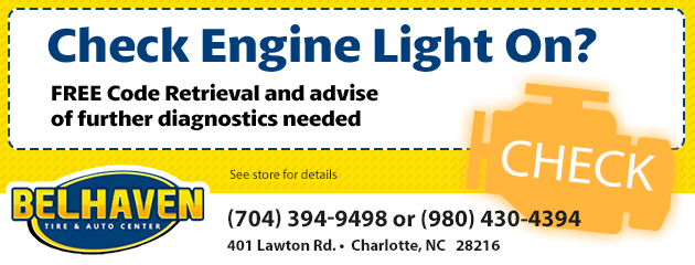 Check Engine Light On? FREE Code Retrieval and advise of further diagnostics needed.